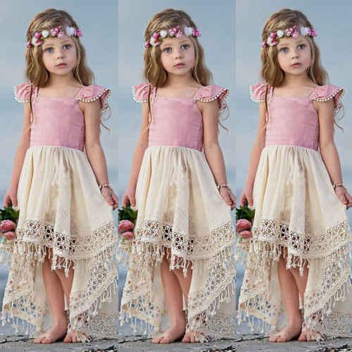 cdbd6262bd8fe New Princes Girl Tassel Dress Baby Girl Summer Swing Tutu Dress ...