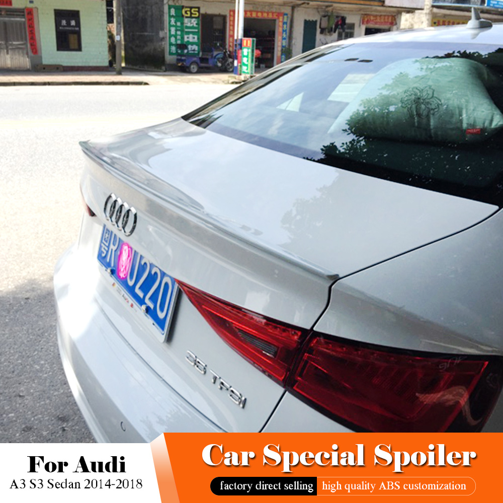All Kinds Of Cheap Motor Audi A3 Sedan Rear Spoiler In All A