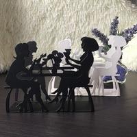 מטבח קפה נשים גבר פנאי ברזל אמנות קרפט נייר מפית מחזיק רקמות מגבת מתלה blcok שולחן שולחן במלון הבית דקורטיבי תיבת