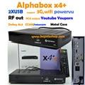 HD Audio AC3 alphabox x4 + DVB-S2 hd por satélite receptor de rf opcional wifi de la ayuda Youtube Ccam IKS vs x6 combo freesat hd v7