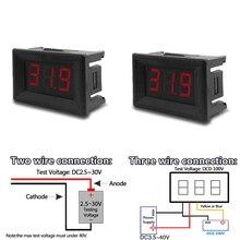 0,36 дюймовый Мини цифровой вольтметр постоянного тока 3 В до 32 в цифровой вольтметр 0-100 В напряжение панель Измеритель Красный Вольтметр для ...