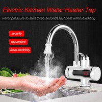 Electric Water Heater Tap Kitchen Instant Hot Water Faucet Heater Cold Heating Faucet Tankless Instantaneous Water Heater