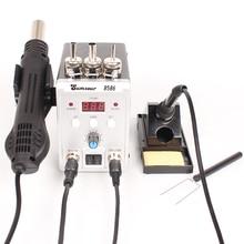 Soldering Station 8586 760W 2 in 1 Digital Display SMD Rework Hot Air Gun Solder Iron 220V ESD Welding Desoldering Repair Tools