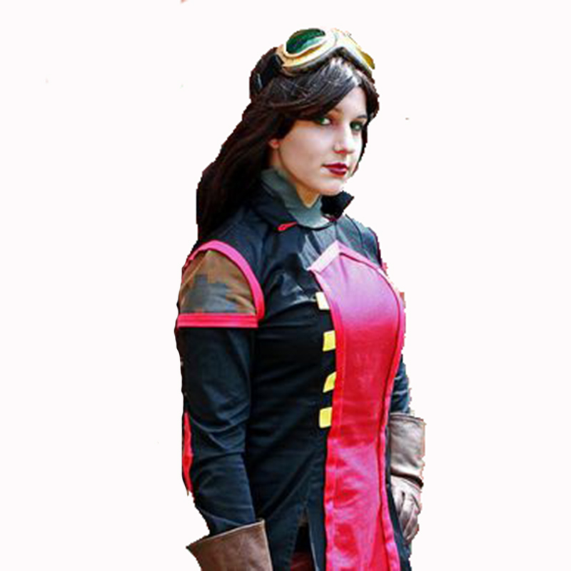 TOP Quality Avatar The Legend of Korra Asami Sato Uniform Cosplay Costume Full Outfit Adult Size
