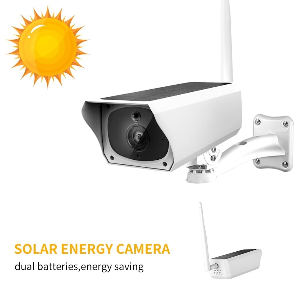 Solar Power IP Camera Waterproof IP67 Outdoor 1080P Monitor PIR Motion Detection two way audio Surveillance