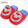 Super Hero Wonder Woman Adult Home Plush Slippers House Winter Indoor Shoes Soft Stuffed Toys AP0103