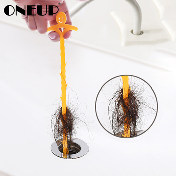ONEUP Sink Cleaning Hook Bathroom Floor Drain Sewer Dredge Device Small Tools Household Items Toilet Sink Bathtub Cleaning Brush 1