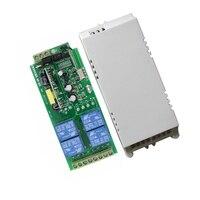 85v 250V 110V 220V 230V 4CH RF Wireless Relay Switch Learning Code Receiver Security System Garage