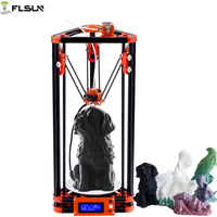 Kossel Large Printing Size 240*285mm 3d Printer Auto Leveling Flsun Delta 3d Printer With Power Supply Hetaed Bed