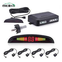 Car Auto Parktronic LED Parking Sensor With 4 Sensors Reverse Backup Car Parking Radar Monitor Detector System Backup Assistance