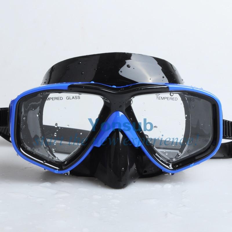 Gratis forsendelse Snorkling Voksen dykning Mask & Snorkel Set silicon blue lady