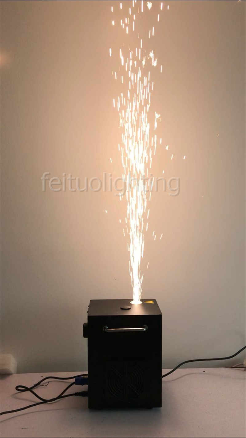 A- 2x Indoor Cold Fireworks Machine Spark Fountain with DMX and IR Remote  Control Used for Wedding Wholesale fireworks Prices