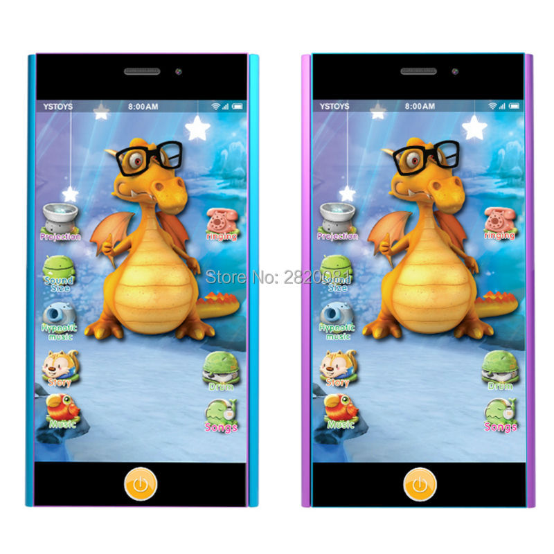 Smart touch screen mobile phone toy,babys multifunction learning&educatinoal phone light projects&sinology function toys