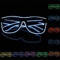 Moda neon el fio neon led óculos para o aniversário de natal dia das bruxas partido do traje decoração do partido suprimentos óculos de iluminação