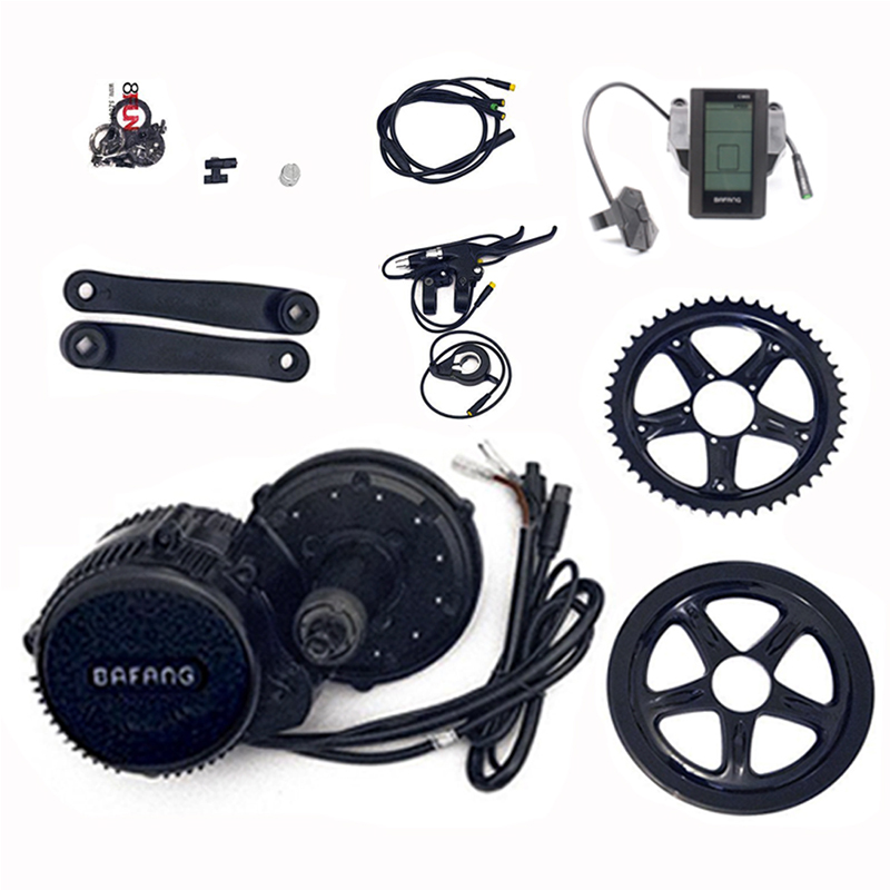 Bafang 8fun 48v 750w BBS02B Electric Motor Kit Bicycle Electric Kit Electric Bike Mid Drive Motor Kit telecool led light building blocks toy only light set for creator series the t1 camper van model lepin 21001 and brand 10220