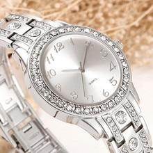 Comtex Marque Femmes Montres Argent Strass Cristal Lady Robe Montre Analogique Quartz Montres Relogio Nouvelle mode Diamant Orologio