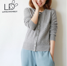 LOVELYDONKEY new Knitted Cardigan cashmere ladies sweater cashmere mix coat e sweater large dimension free delivery m42