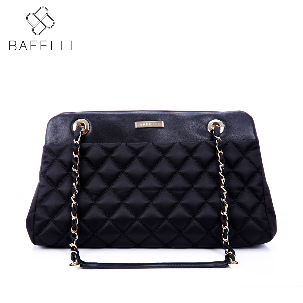 BAFELLI bags for women fashion diamond lattice shoulder bag womens chain nylon black tote bolsos mujer women messenger bags fashion sheepskin mini women bag retro small fragrant bag chain diamond lattice small shoulder bags hasp women messenger bags