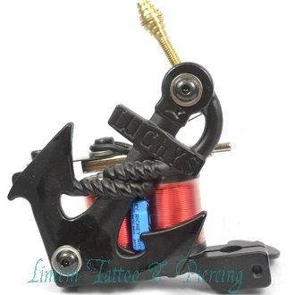 casted iron frame black color clear coils 10 wrap Iron tattoo ...