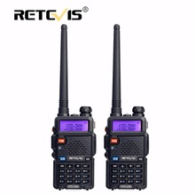 2 pcs Retevis RT5R Portable Talkie Walkie 5 W 128CH VHF UHF Double bande Handy Ham Radio Hf Émetteur-Récepteur 2 Voies cb Radio Communicateur