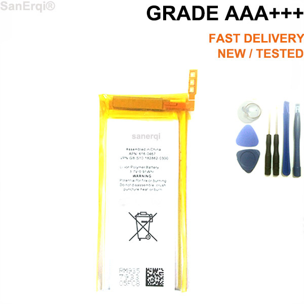 for iPod Nano 5 5th Gen Battery Free Tools Replacement High Quality New 3.7V Li-ion