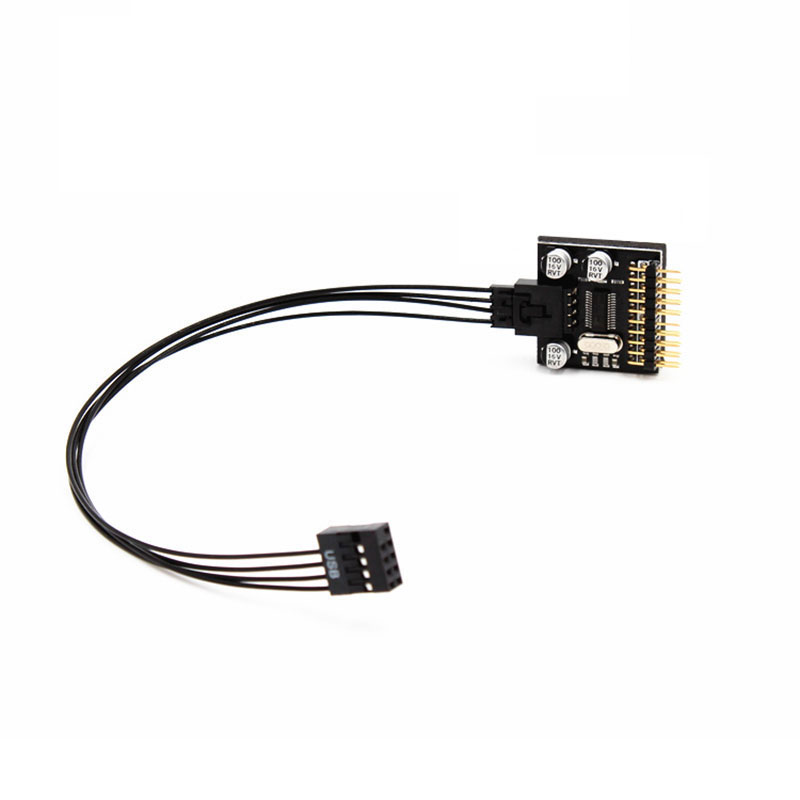 new esolth motherboard usb 9pin expansion circuit board 2 in 1 pcb expansion computer cables