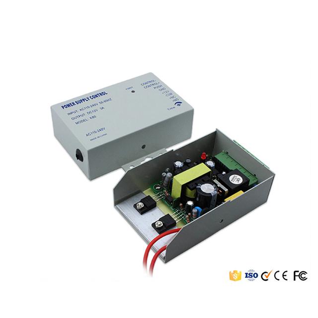 Tamaño pequeño 110 V - 220 V de entrada 12 V / 3A fuente de alimentación de salida para Control de acceso sistema o sistema de intercomunicación