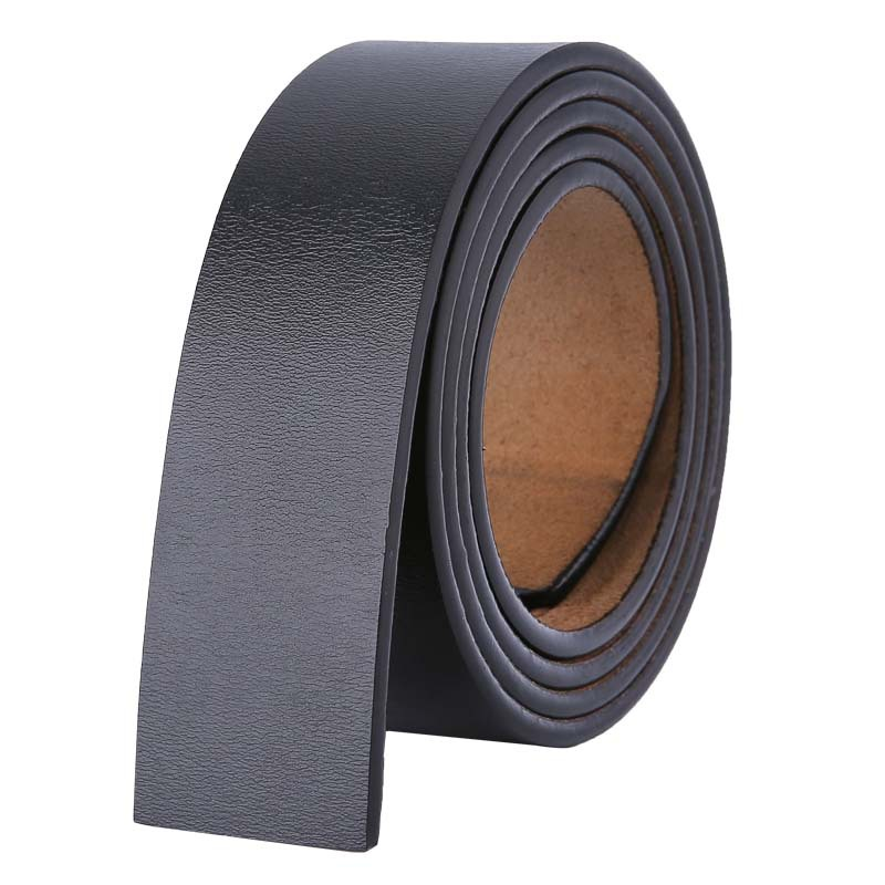 140 150 160cm Belts No Buckle 3.5cm Wide Cowskin Real Genuine Leather Belt Body Men Large Size Belt Without Buckle Strap Brown