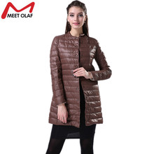 Casual Ultralight Cotton Women Winter Jacket and Coat Womens Wadded Long Thin Warm Parka Womens Long Solid Color Parkas YL009