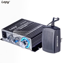 Lepy LP-2024S 2CH Output Power 25W RMS Hi-Fi Digital Stereo Amplifier With NKTECH 3A Power Supply Black LP-2024A+ Upgrade