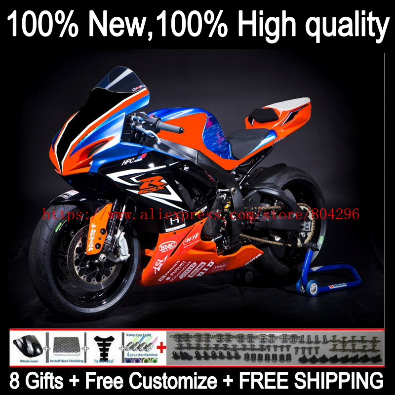 buy body blue orange for suzuki gsxr750. Black Bedroom Furniture Sets. Home Design Ideas
