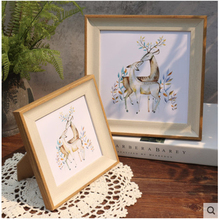 American picture frame wood photo wedding Baby gift Home decoration 5/6/7/8/10/12 Inch