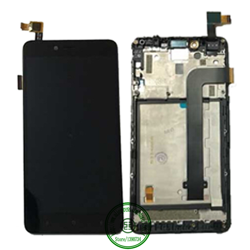TOP Quality 5.5inch Full LCD Display Touch Screen Digitizer Assembly With Frame For Xiaomi Hongmi Note 2 Redmi Note 2 Parts