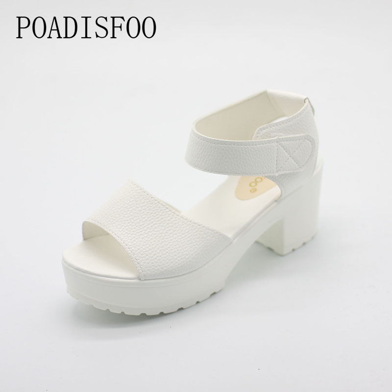POADISFOO sandals women Summer shoes Woman wedges platform sandals high heel soft  women shoes sanglaide shoes thick heel .XL-21 phyanic 2017 gladiator sandals gold silver shoes woman summer platform wedges glitters creepers casual women shoes phy3323