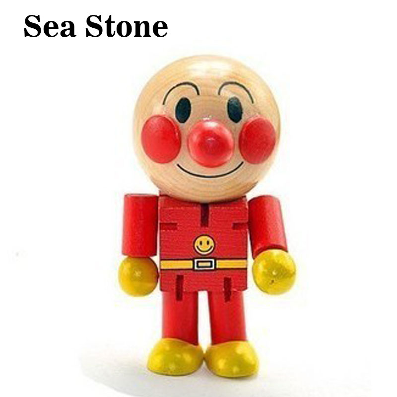 Baby Wooden Kids Toys Cartoon Anime Mini Anpanman Doll Minifigure Blocks Figures Action Toys For Children Christmas gifts puppet
