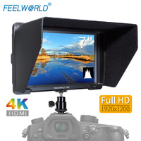 FEELWORLD T756 7 Inch 4K HDMI Monitor 1920x1200 IPS 4K Camera Field Monitor with Peaking Focus False Colors Zebra Exposure