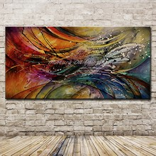 Mintura Art Large Size Hand Painted Abstract Oil Paintings On Canvas Modern Wall Pictures for Living Room Home Decor No Framed(China)