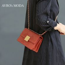 AVRO's MODA Brand genuine leather shoulder bags for women 2019 luxury handbags women crossbody bags small square messenger bags