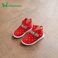 Claladoudou Baby Shoes With Cute Lace Red kd Shoes For Children Girls Stone Crystal Footwear White Spring Summer Toddler Boots