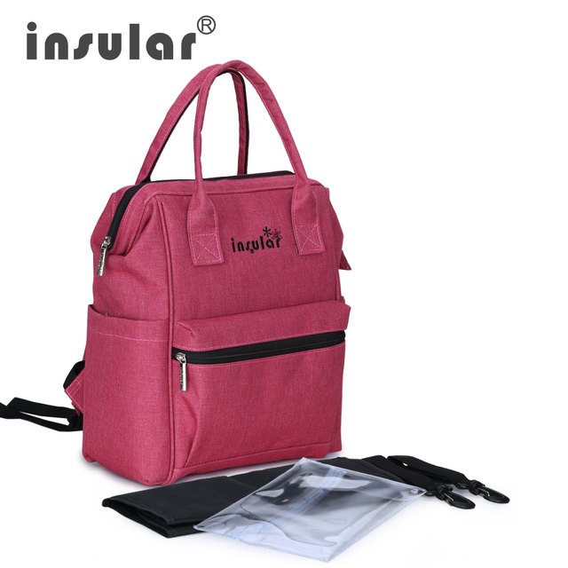 New Style Insular Multifunctional  Baby Diaper Bag Backpack Fashion Mommy Bag Backpack Waterproof Nappy Backpack