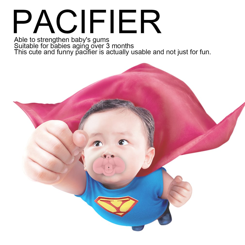 Silicone Sea Fox Style Nipple Dummy Baby Soother Joke Prank Toddler Pacy Orthodontic Nipples Teether Baby Pacifier Xmas Gifts