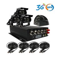 Free Shipping 4CH SD 3G GPS Car DVR H.264 I/O PC / Phone View Audio Video Recorder + Car Rear Side Back Front View Duty Camera
