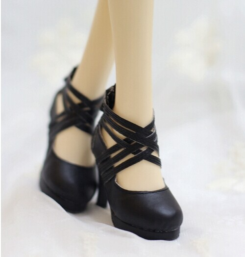 169fee81d413a Cross Strap High Heel Leather Shoes for BJD 1/3 SD16,GR,DD,Spirit Large  Girl Doll Shoes SW42-in Dolls Accessories from Toys & Hobbies