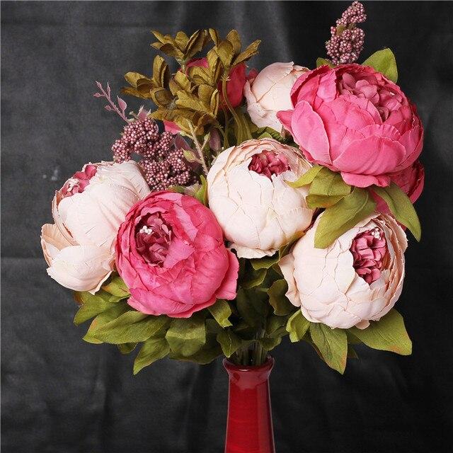 Beautiful Flower Bouquet Vivid Artificial Flower Vintage Simulation ...