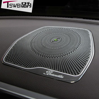 TSWEI Car-styling Burmester Design Audio Speaker Cover Decoration stickers For Mercedes Benz C Class W205 GLC auto accessories glc coupe решетка радиатора amg