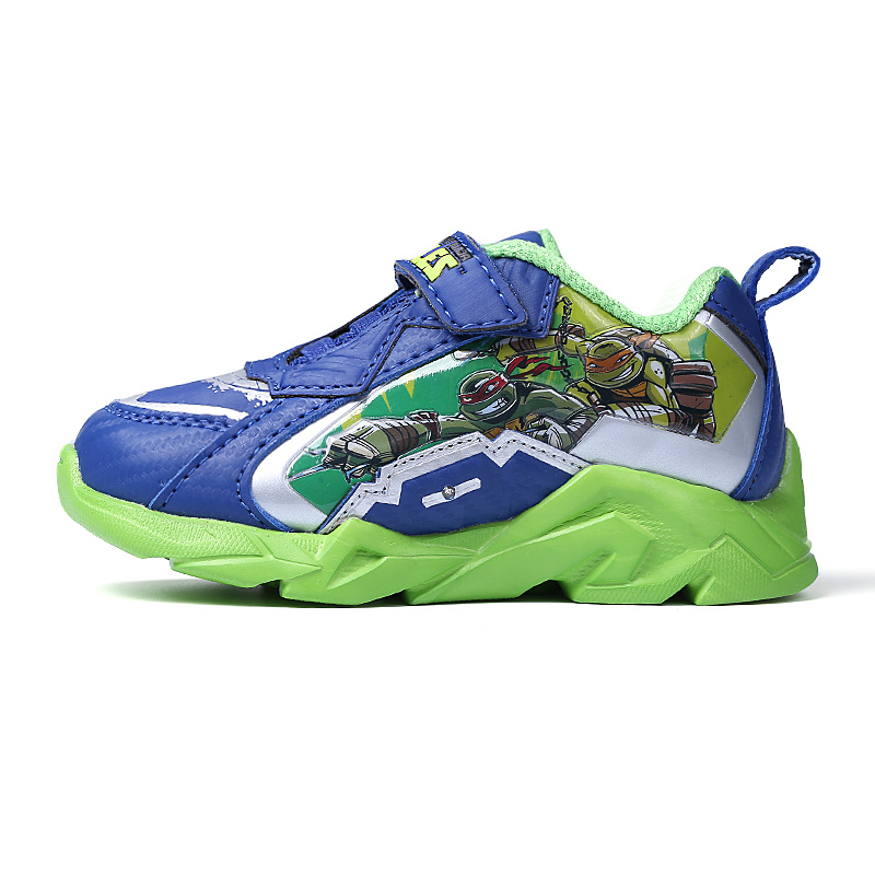 ФОТО 2016 Turtles Little Kids Shoes With Light Up Boys Girls Glowing Sneakers Children Sport Trainer Running Shoes Chaussure Enfant