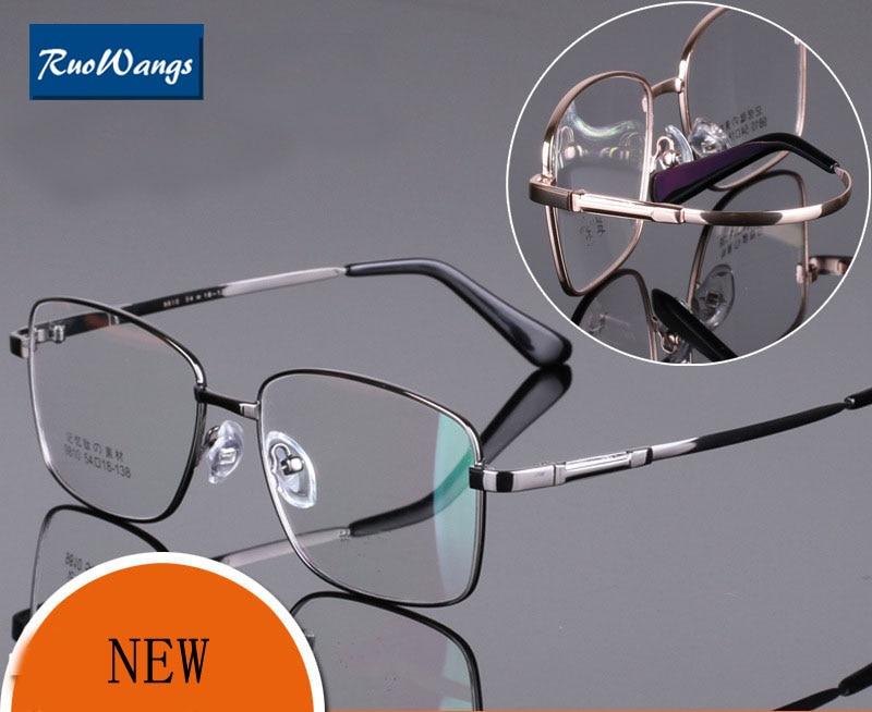 d52a8d1f53 RuoWangs Spectacle glasses frame men myopia frame eye glasses oculos de  grau men eyeglass glasses fashion