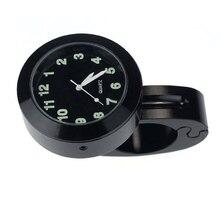 Motorcycle Accessories Handlebar Waterproof Watch (black)