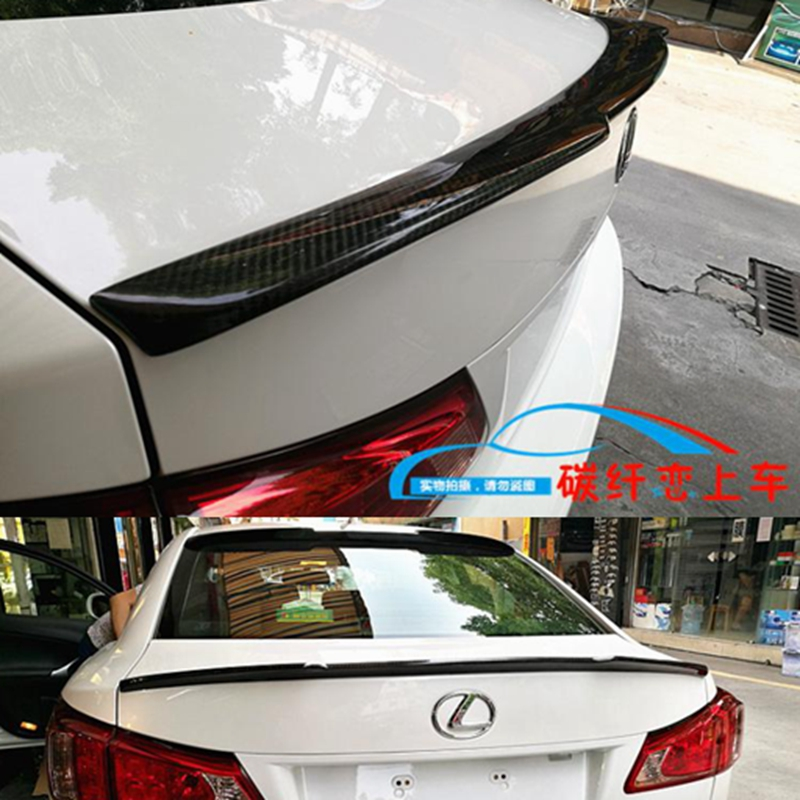 Fit For Lexus IS250 IS300 IS350 2007 2008 2009 2010 2011 2012 2013 Carbon fiber Primer Color Exterior Rear Wing Spoiler цена