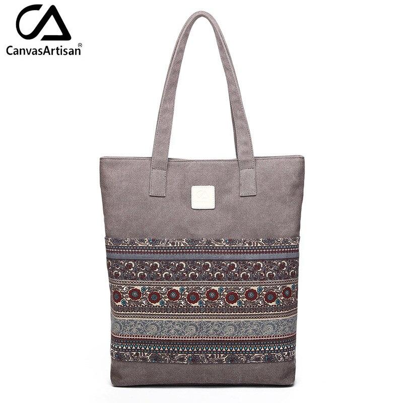 Canvasartisan Brand new canvas women handbags floral vintage female shopping sho